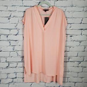 Eloquii Pink Short Sleeve Tunic